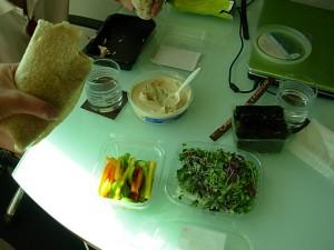 Vegan Hotel Room Lunch