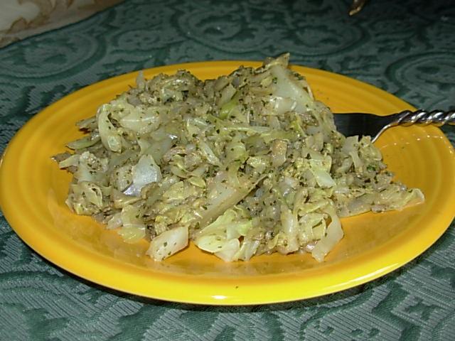 Cabbage Noodles with Fresh Vegan Pesto